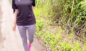 Stranger met at the jogging park - Risky Public - Ashavindi