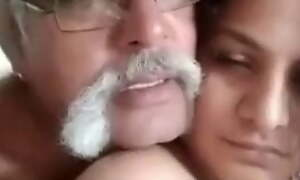 Indian old man with big cock